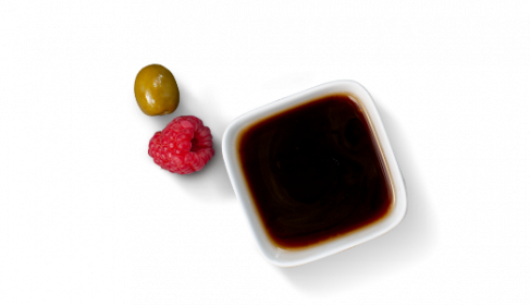"D'huile d'olive extra vierge, ""Aceto balsamico di Modena IGP"" & framboise"